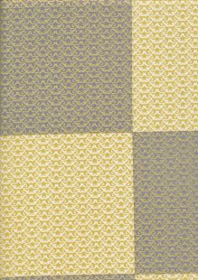 Andover Fabrics Gilded Designs By Lizzy House & Lonni Rossi - Interlaced Squares Yellow