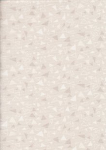 Andover Fabrics Gilded Designs By Lizzy House & Lonni Rossi - Triangles Taupe