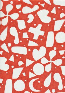 Andover Fabrics Print Making By Lizzy House - Brisbane Red