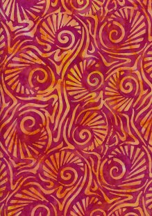 Fabric Freedom Bali Batik Stamp - Pink 181/I