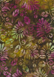 Fabric Freedom Bali Batik Stamp - Green 165/I