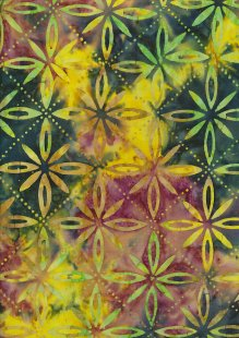 Fabric Freedom Bali Batik Stamp - Green 177/B
