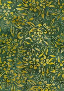 Fabric Freedom Bali Batik Stamp - Green 190/J?