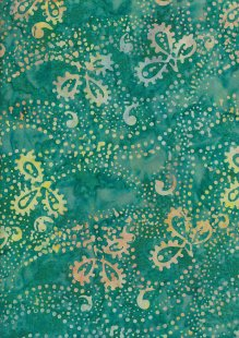 Fabric Freedom Bali Batik Stamp - Green 169/B