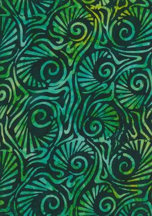 Fabric Freedom Bali Batik Stamp - Green 181/A