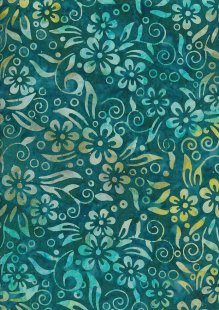Fabric Freedom Bali Batik Stamp - Green 190/D