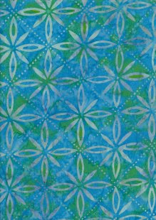 Fabric Freedom Bali Batik Stamp - Turquoise 177/A