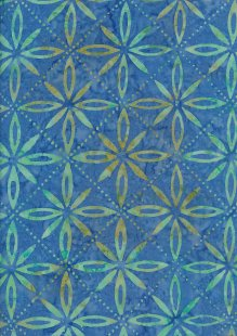 Fabric Freedom Bali Batik Stamp - Blue 177/I