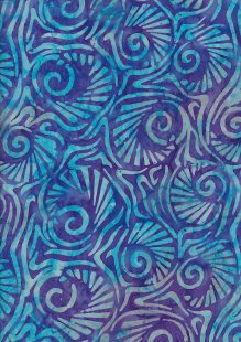 Fabric Freedom Bali Batik Stamp - Purple 181/B