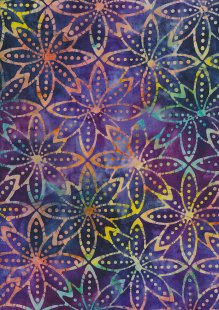 Fabric Freedom Bali Batik Stamp - Purple 166/E