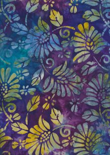 Fabric Freedom Bali Batik Stamp - Purple 165/D