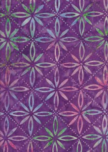 Fabric Freedom Bali Batik Stamp - Purple 177/C