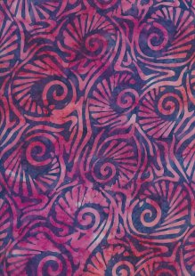 Fabric Freedom Bali Batik Stamp - Purple 181/G