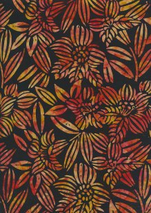 Fabric Freedom Bali Batik Stamp - Black 185/F