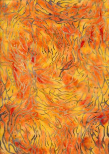 Sew Simple Bail Batik - Orange SSHH-347-28A