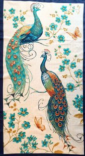 Blank Quilting - Peacock Pavilion Panel