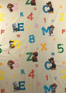 Chatham Glyn - Disney Cotton Fabric Pup ABC