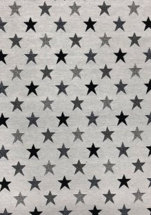 Chatham Glyn - New World Tapestry Black & White Stars