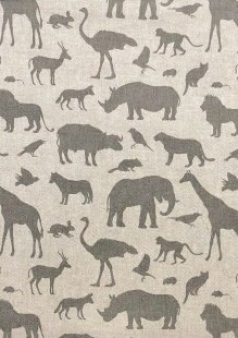 Chatham Glyn - Linen Look Popart Linen Safari Animals
