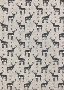 Chatham Glyn - Linen Look Popart Linen Stags