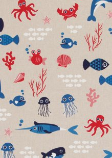Chatham Glyn - Linen Look Popart Linen Fish