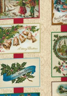 Christmas - Cream With Christmas Scenes In Squares