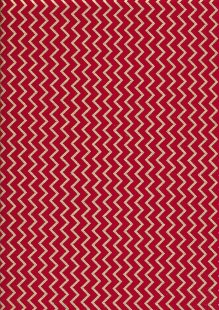 Christmas - Red With Gilded Zig-Zag
