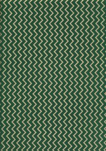 Christmas - Green With Gilded Zig-Zag