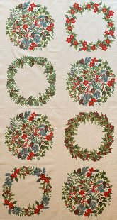 Christmas Panel - Yuletide Wreath