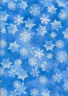 Benartex Christmas Pearlescent Overprint  - Winter's Pearl 7750 Col50