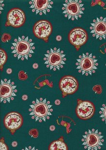 "Rose & Hubble 54"" Wide Christmas Fabric - 28"
