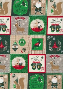 "Rose & Hubble 54"" Wide Christmas Fabric - 34"