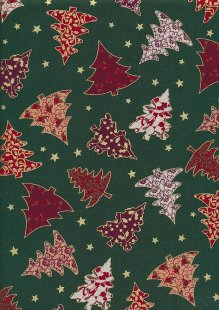 "Rose & Hubble 54"" Wide Christmas Fabric - 45"
