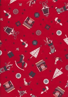 "Rose & Hubble 54"" Wide Christmas Fabric - 51"