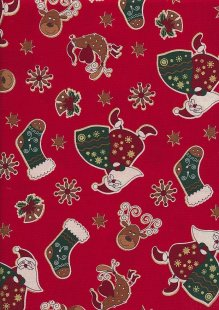 "Rose & Hubble 54"" Wide Christmas Fabric - 62"