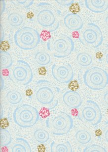 P&B Textiles - Edens Road Lace & Buds Blue