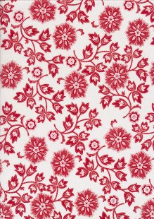 Staples V By Clothworks - Large Floral Red