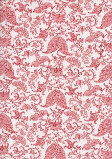 Staples V By Clothworks - Floral Vine Red