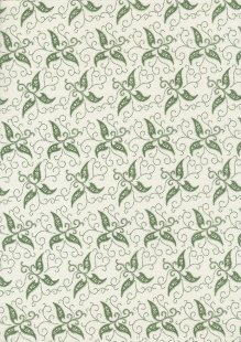Staples V By Clothworks - Star Floral Green