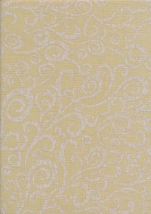 Colour Collection By Clothworks - Floral Swirl Yellow