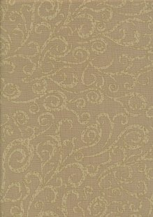 Colour Collection By Clothworks - Floral Swirl Brown
