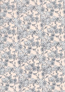 Quality Cotton Print - Flower Burst On Pink