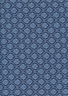 Cotton Print - 88662 Crest On Navy