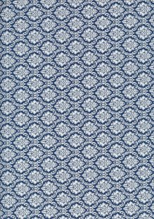 Cotton Print - 88661 Crest On Blue