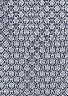 Cotton Print - 88663 Crest On Navy
