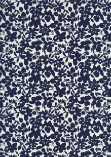 Cotton Print - 88492 Navy Floral On Cream