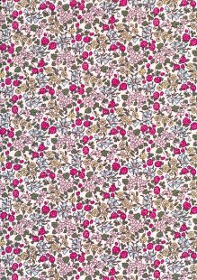 Quality Cotton Print - Floral 14 - on pale pink
