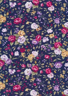 Rose & Hubble - Quality Cotton Print CP-0495 Navy