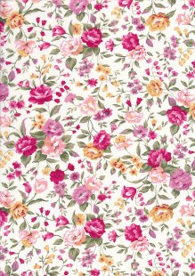 Rose & Hubble - Quality Cotton Print CP-0495 Pink