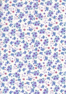 Rose & Hubble - Quality Cotton Print CP-0784 Blue